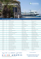 Azamara Club Cruises 2017 Voyages Overview
