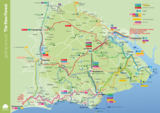 The new forest travel map