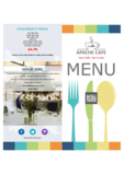 Apache cafe menu 2016