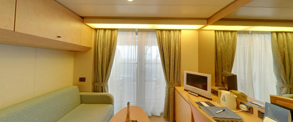 P&O Cruises Arcadia Accommodation Deluxe Balcony Cabin 1.jpg