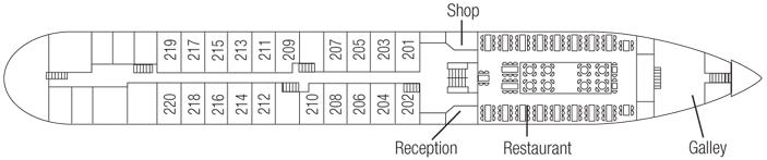 Saga River Cruises Rex Rheni Deck Plans Main Deck.jpg