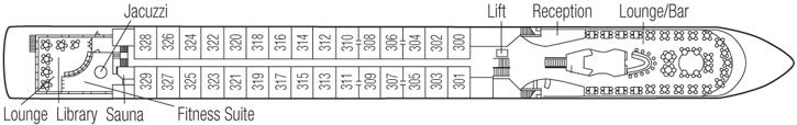 Saga River Cruises Filia Rheni II Deck Plans Upper Deck.jpg