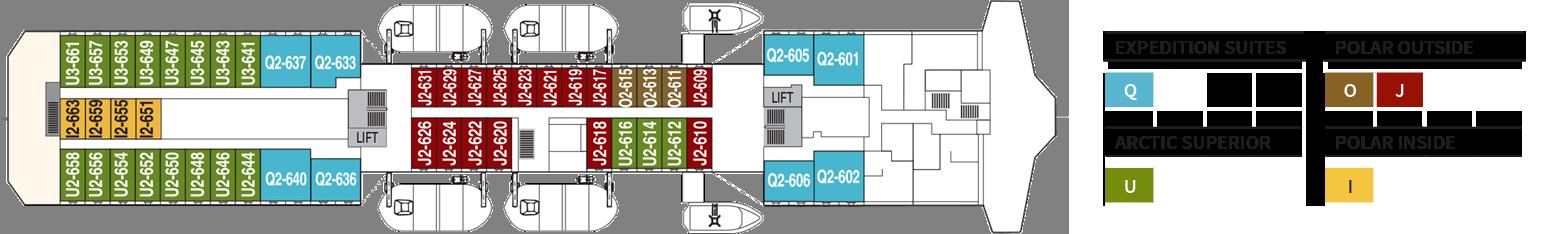 Hurtigruten MS Richard With Deck Plans Deck 6.png