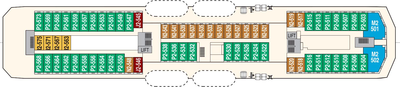 Hurtigruten MS Richard With Deck Plans Deck 5.png