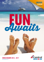 Carnival Cruise Lines 2016 2017 Brochure