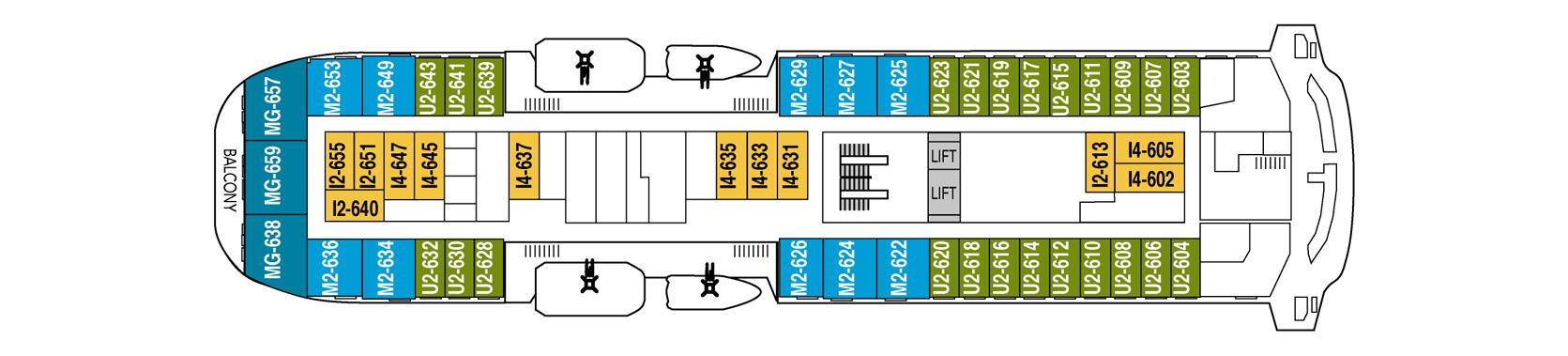 Hurtigruten MS Fram Deck Plans Deck 6.png