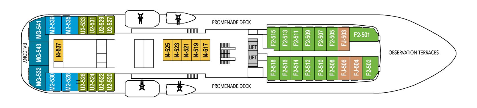Hurtigruten MS Fram Deck Plans Deck 5.png