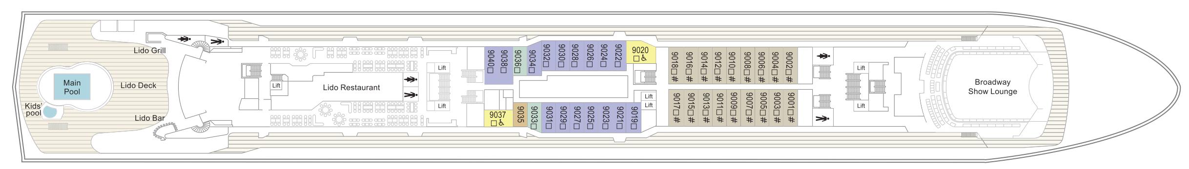 Thomson Cruises Thomson Dream Deck Plans Deck 9.jpg