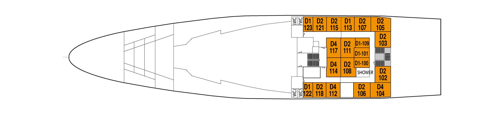 Hurtigruten MS Lofoten Deck Plans Deck 5.png
