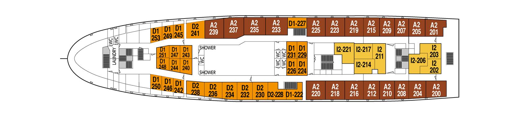 Hurtigruten MS Lofoten Deck Plans Deck 6.png