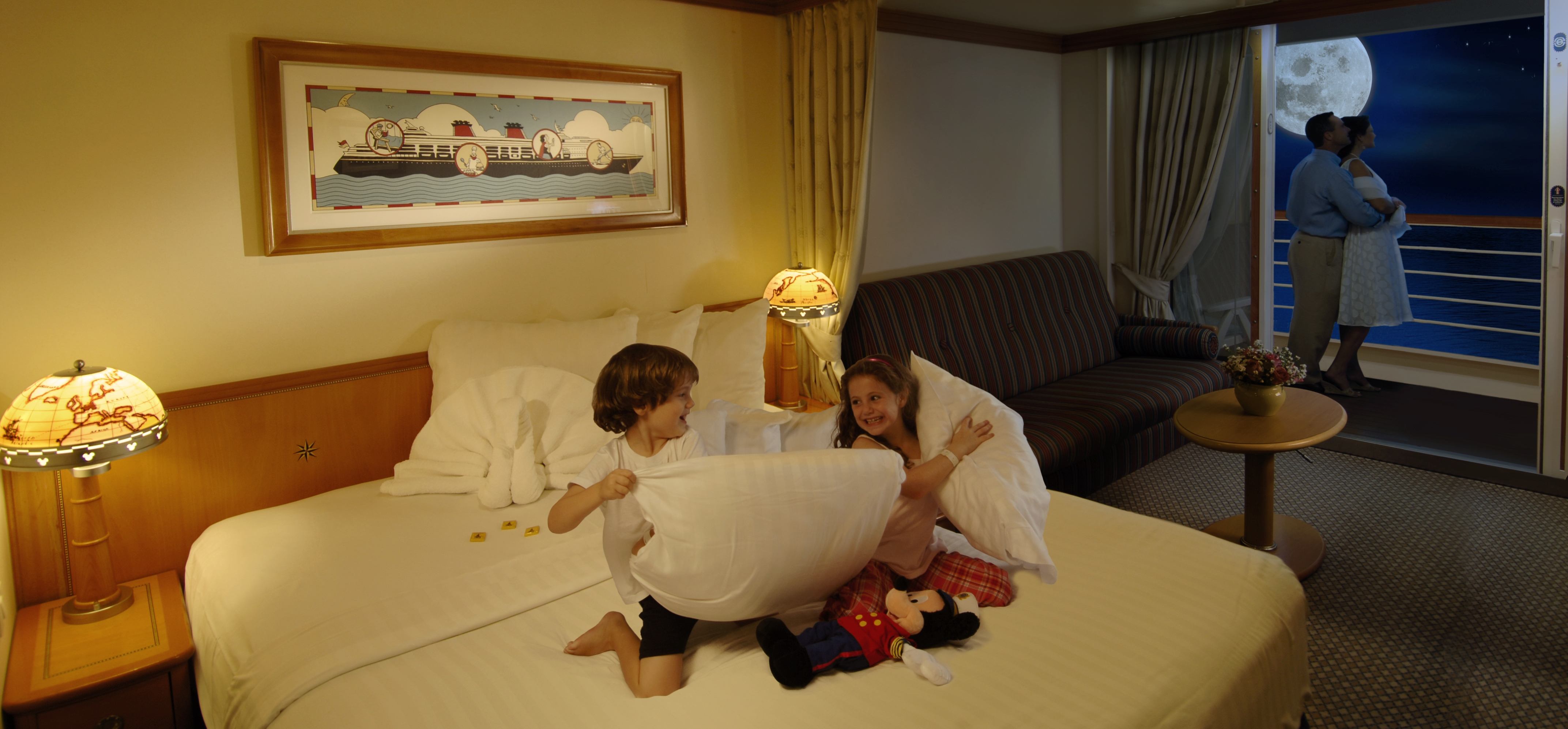 Disney Cruise Line Accommodation Category 5, 6 & 7 Deluxe Stateroom with Verandah.JPG