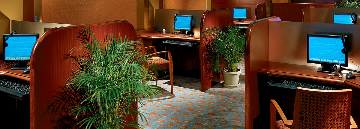 Carnival Cruise Lines Carnival Conquest Interior Internet Cafe.jpg
