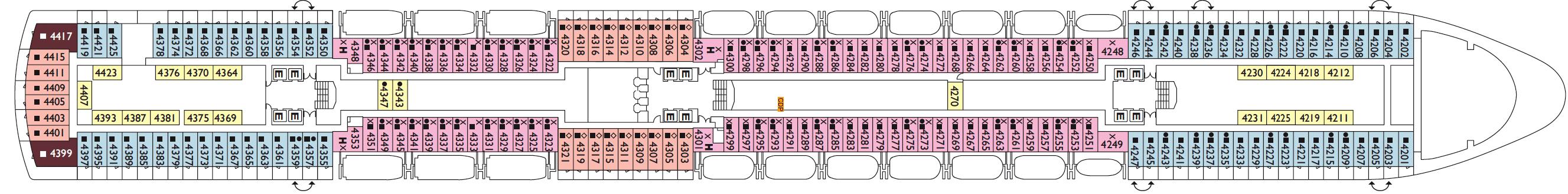 Costa Cruises Costa Deliziosa Deck Plans Camelia.png