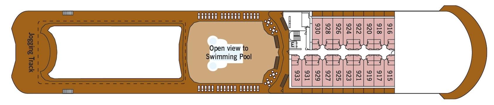 Silversea Cruises Silver Shadow Deck Plans Deck 9.jpg
