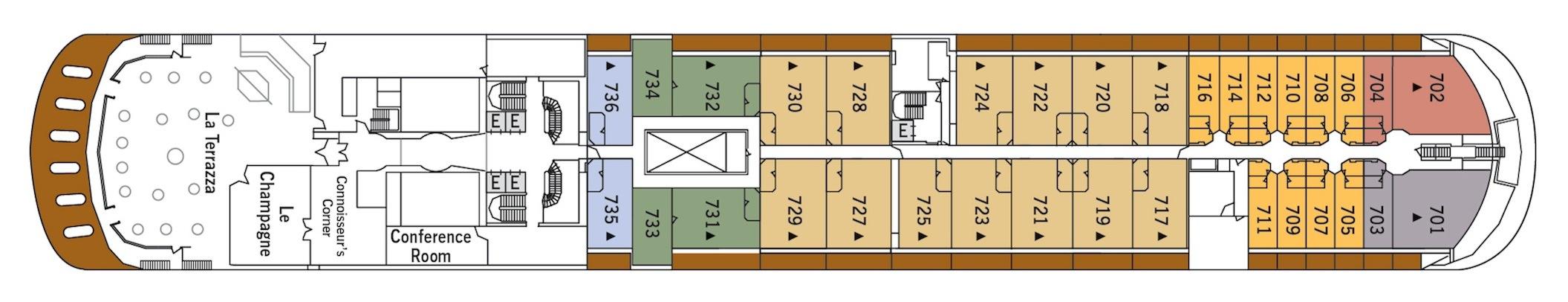 Silversea Cruises Silver Shadow Deck Plans Deck 7.jpg