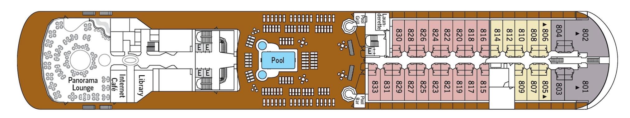 Silversea Cruises Silver Shadow Deck Plans Deck 8.jpg