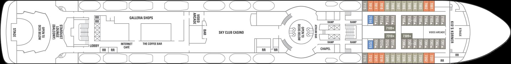 Norwegian Cruise Line Norwegian Sky Deck Plans Deck 7.png