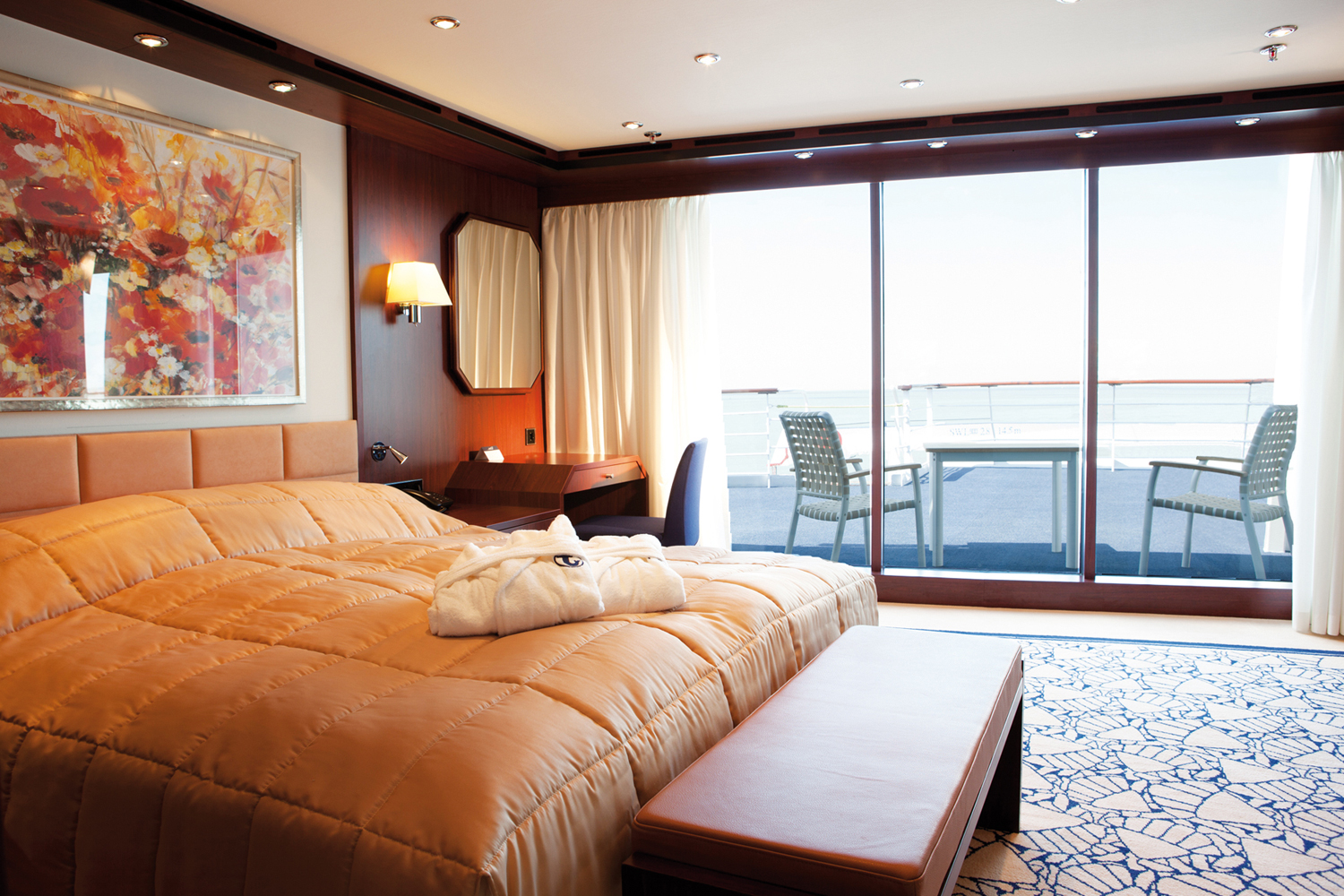 Cruise & Maritime Voyages Astor Accommodation Astor Suite Bedroom.jpg