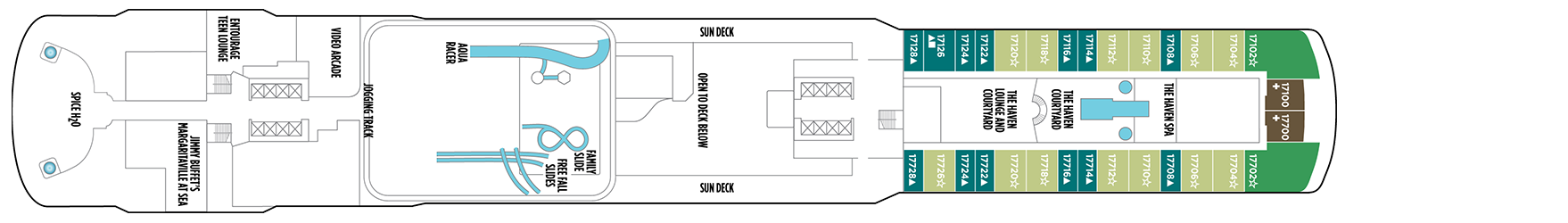 Norwegian Cruise Line Norwegian Escape Deck Plans Deck 17.png