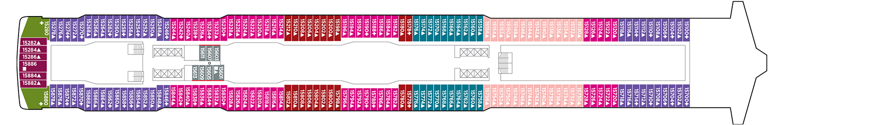 Norwegian Cruise Line Norwegian Escape Deck Plans Deck 15.png