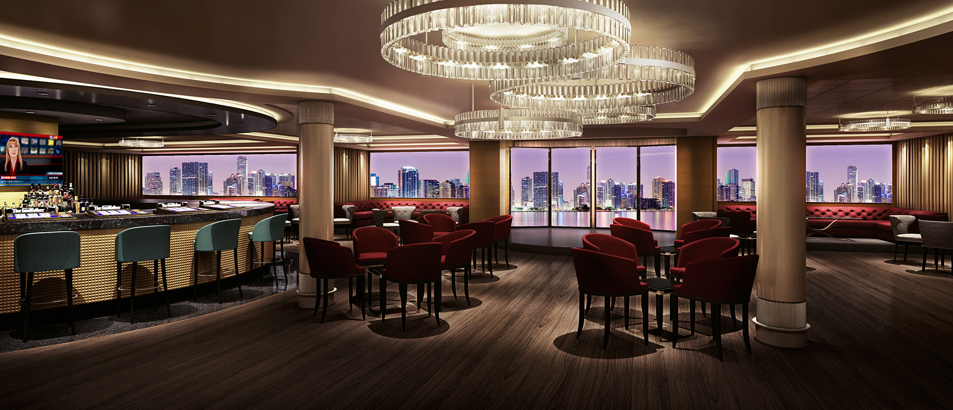 Norwegian Cruise Line Norwegian Escape Interior Skyline bar.jpg