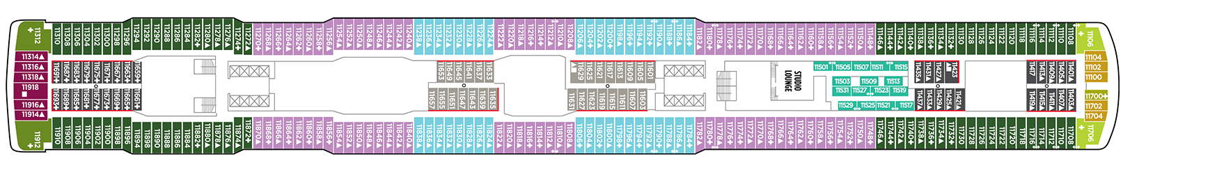 Norwegian Cruise Line Norwegian Escape Deck Plans Deck 11.png