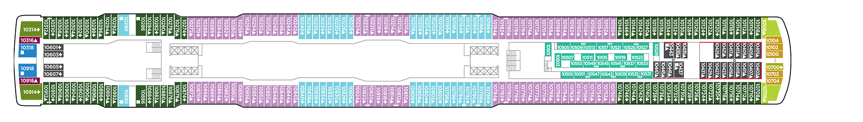 Norwegian Cruise Line Norwegian Escape Deck Plans Deck 10.png