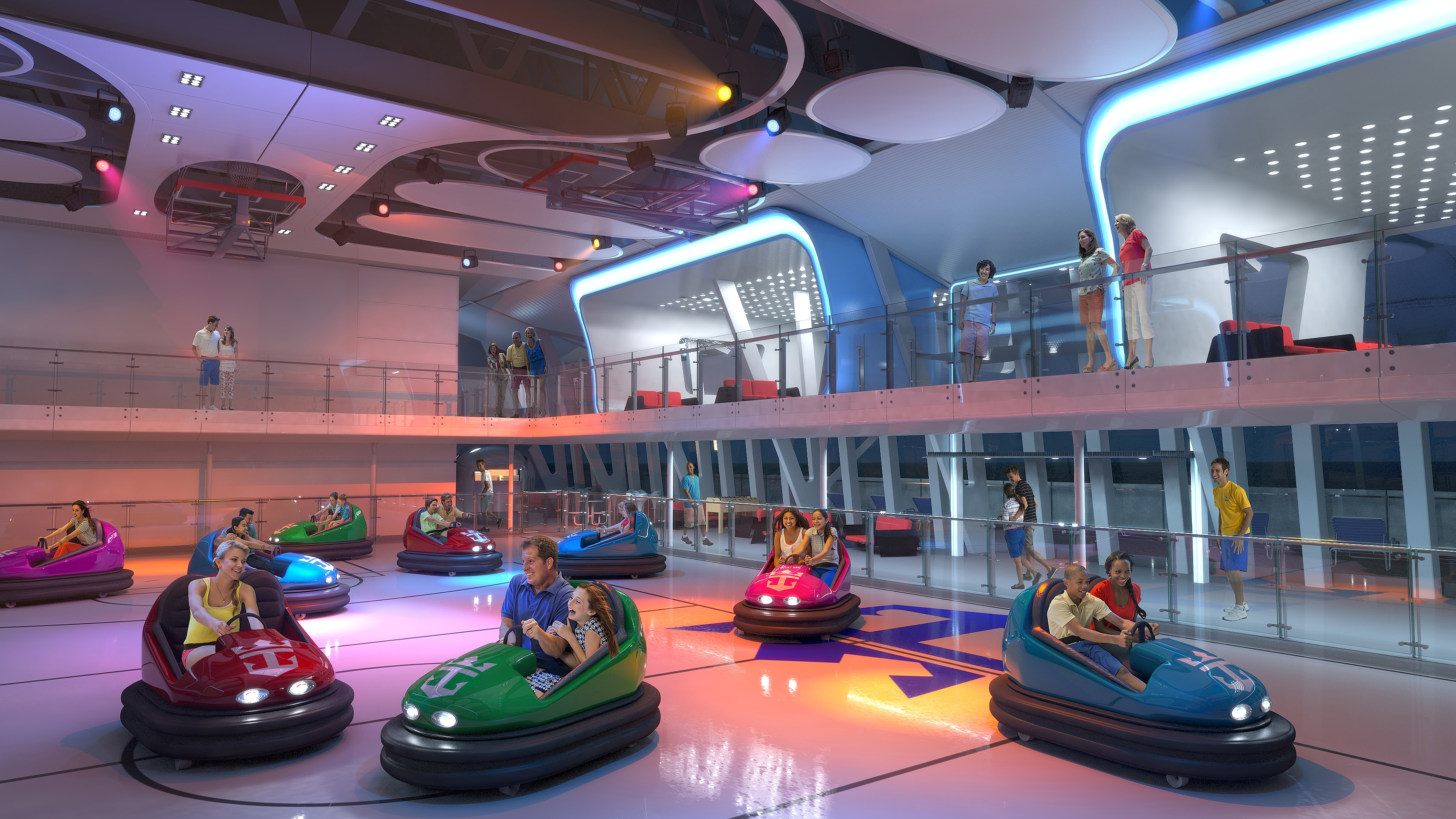 Royal Caribbean International Anthem of the Seas Interior SeaPlex Bumper Cars 2.jpg