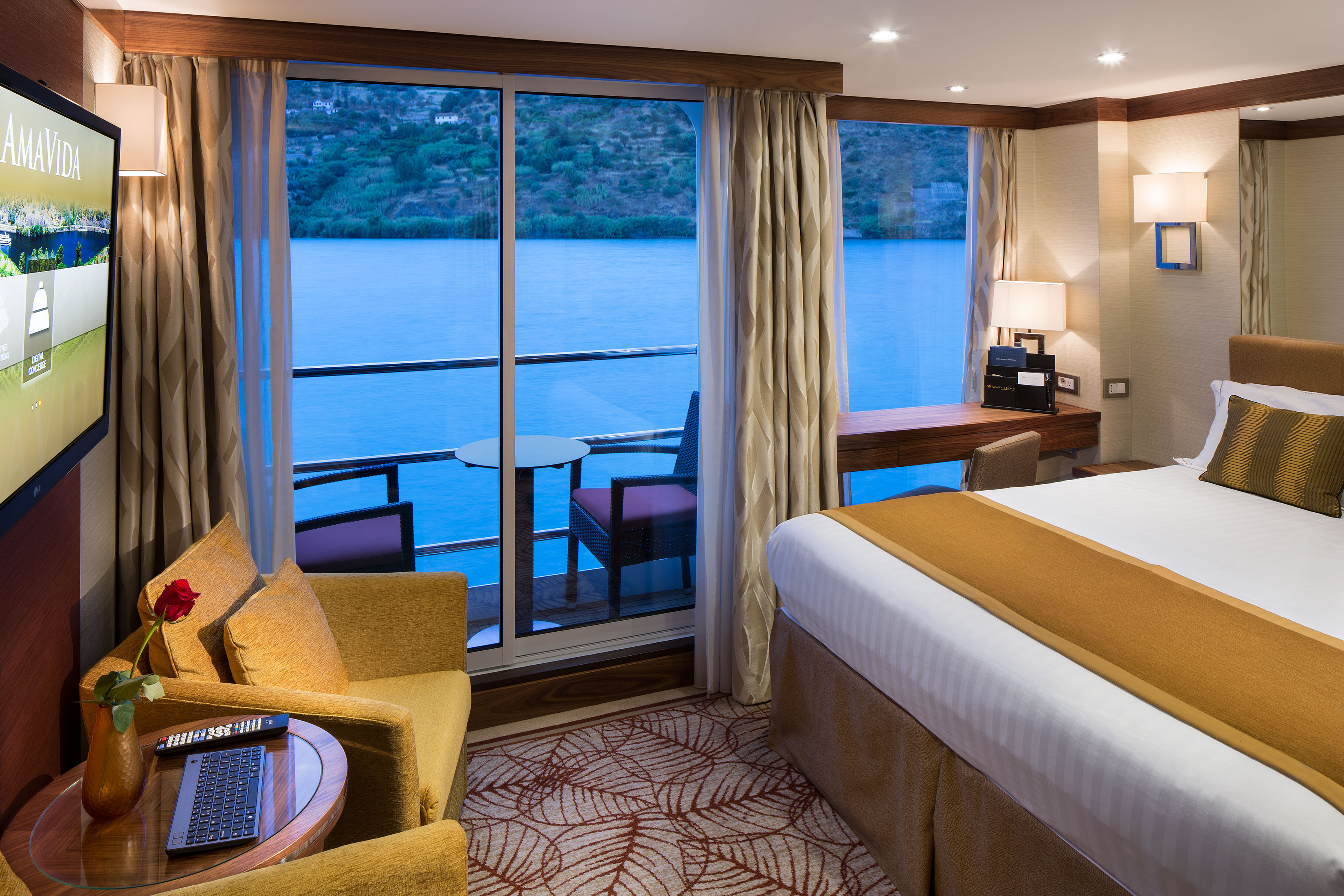 Outside Balcony Staterooms (A,B,C)