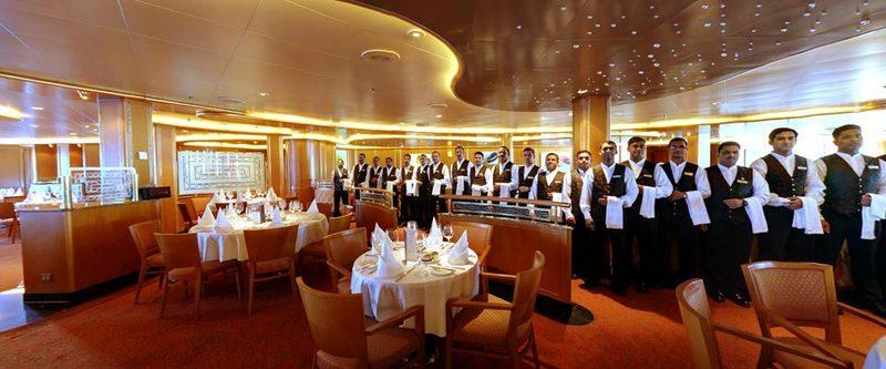 Ventura p o cruises for P o britannia dining rooms