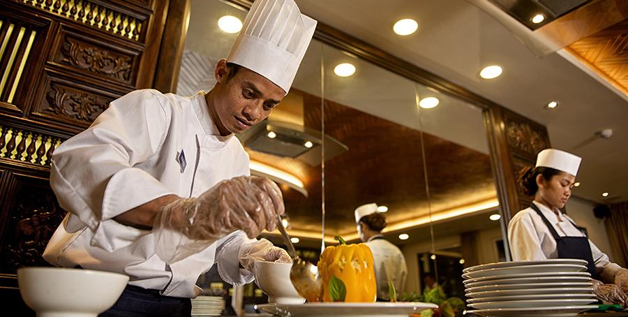 Avalon Waterways Avalon Siem Reap Interior Dining Room Chef 1.jpg