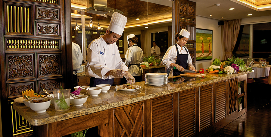 Avalon Waterways Avalon Siem Reap Interior Dining Room Chef 3.jpg