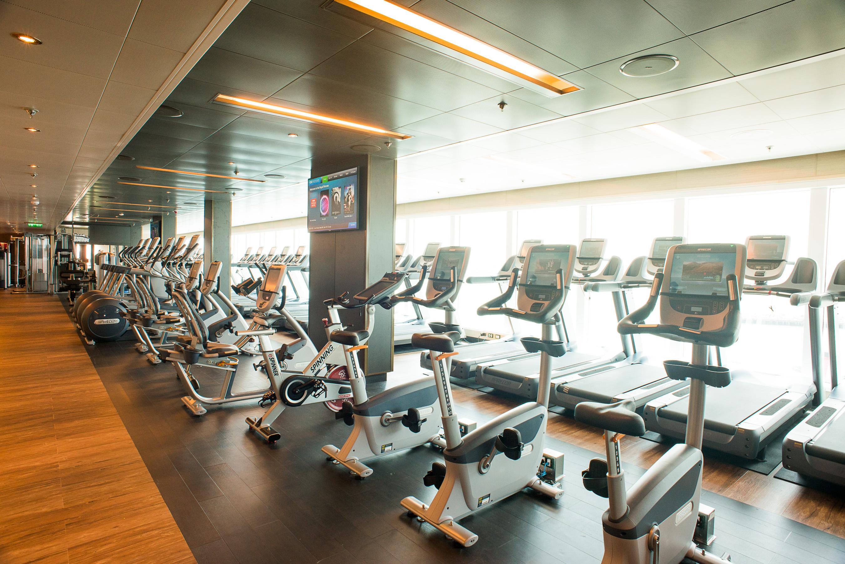 Princess Cruises Royal Class Interior fitness centre 2.jpg