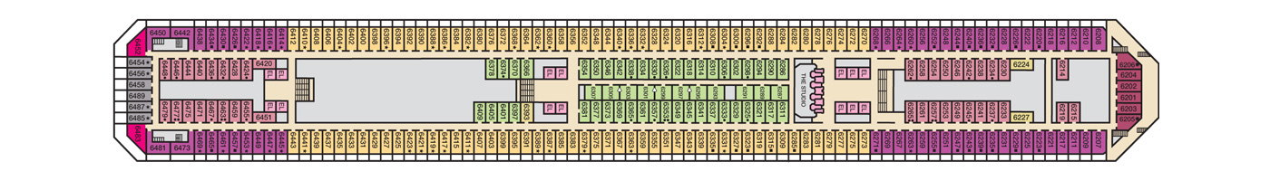 Carnival Cruise Lines Carnival Conquest Deck Plans Deck 6.jpg