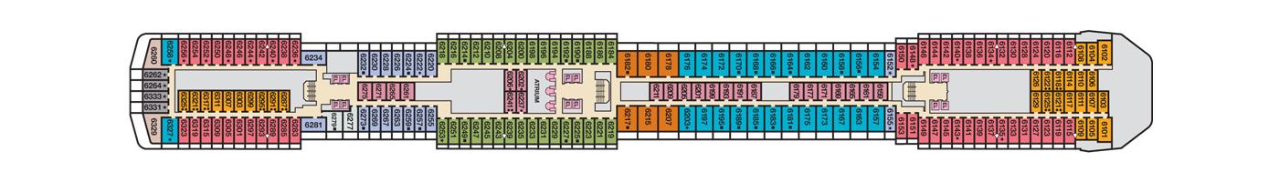 Carnival Cruise Lines Carnival Pride Deck Plans Deck 6 jpg.jpg