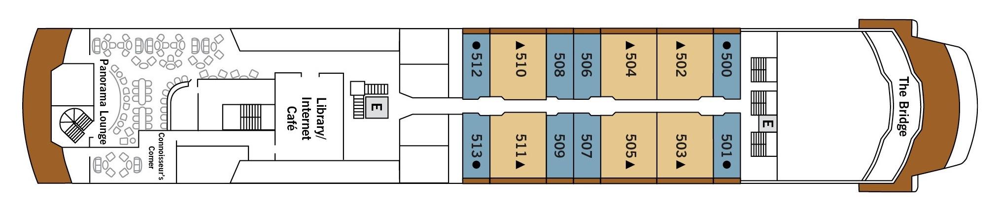 Silversea Cruises Silver Explorer Deck Plans Deck 5.jpg