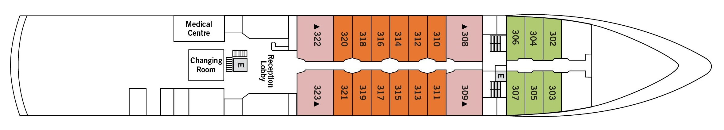 Silversea Cruises Silver Explorer Deck Plans Deck 3.jpg