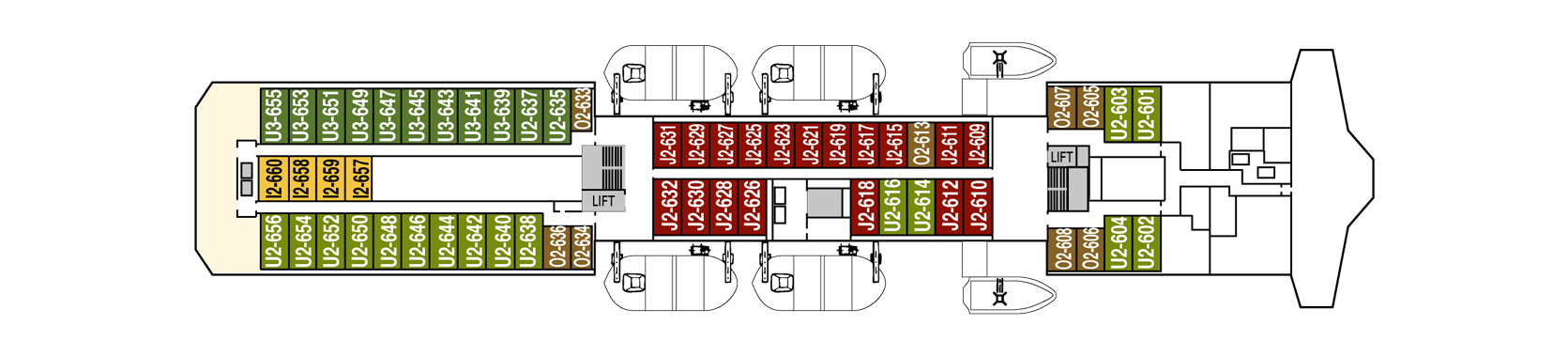 Hurtigruten MS Kong Harald Deck Plans Deck 6.png
