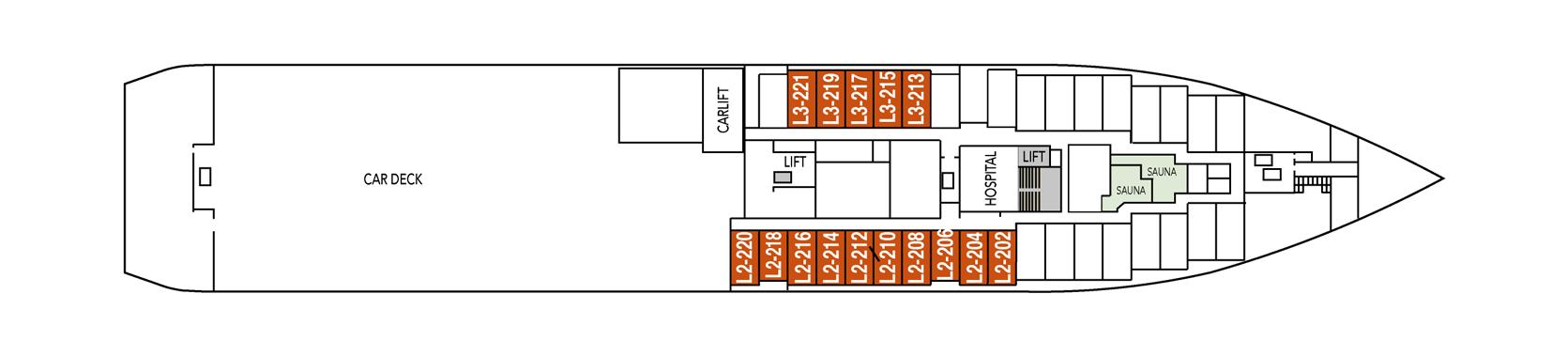 Hurtigruten MS Kong Harald Deck Plans Deck 2.png