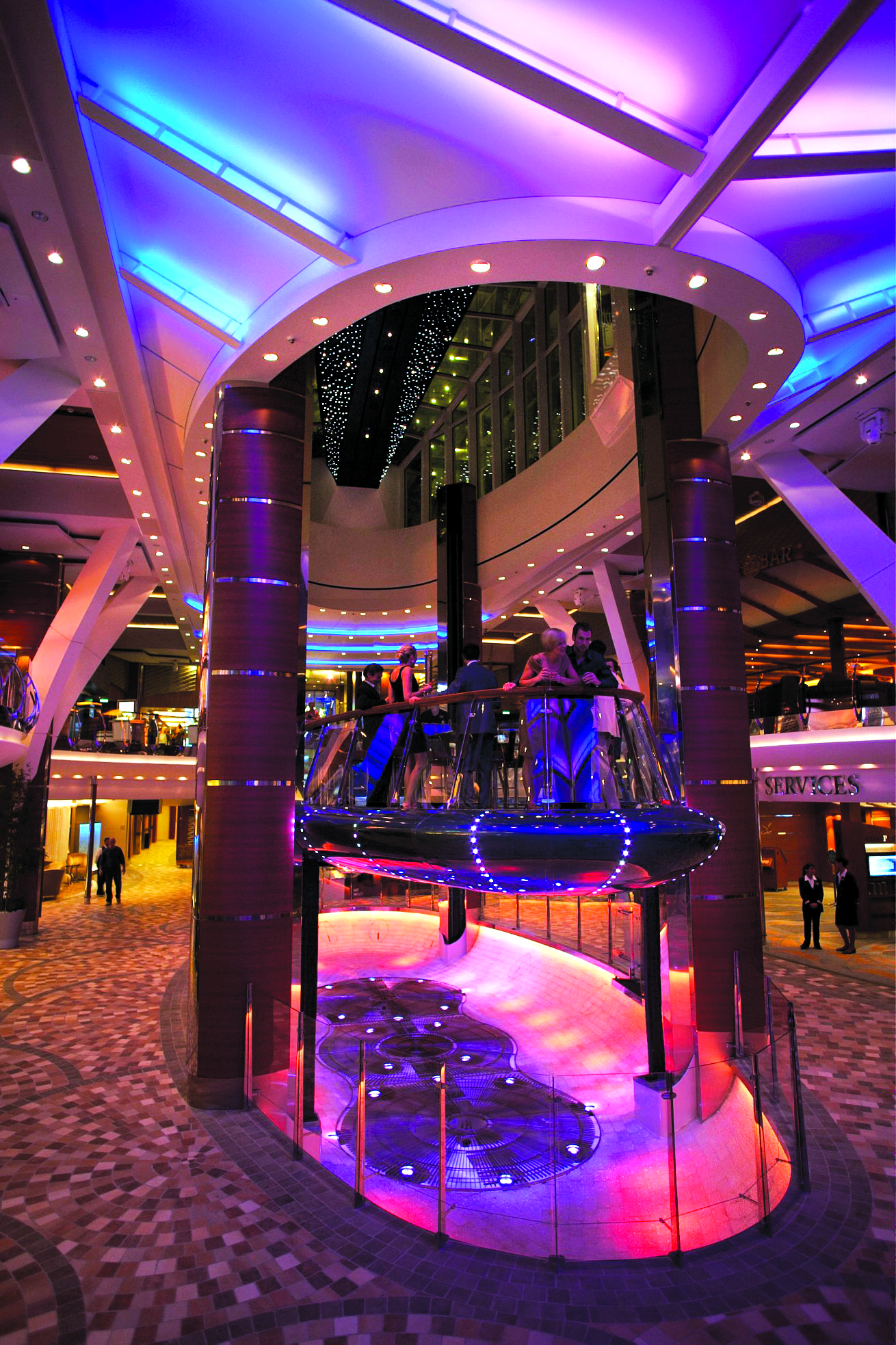 Royal Caribbean International Oasis of the Seas Interior Rising Tide 2.jpg