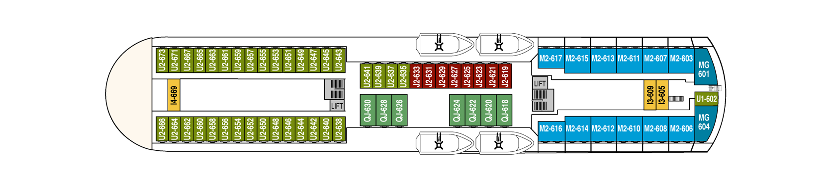 Hurtigruten MS Finnmarken Deck Plans Deck 6.png