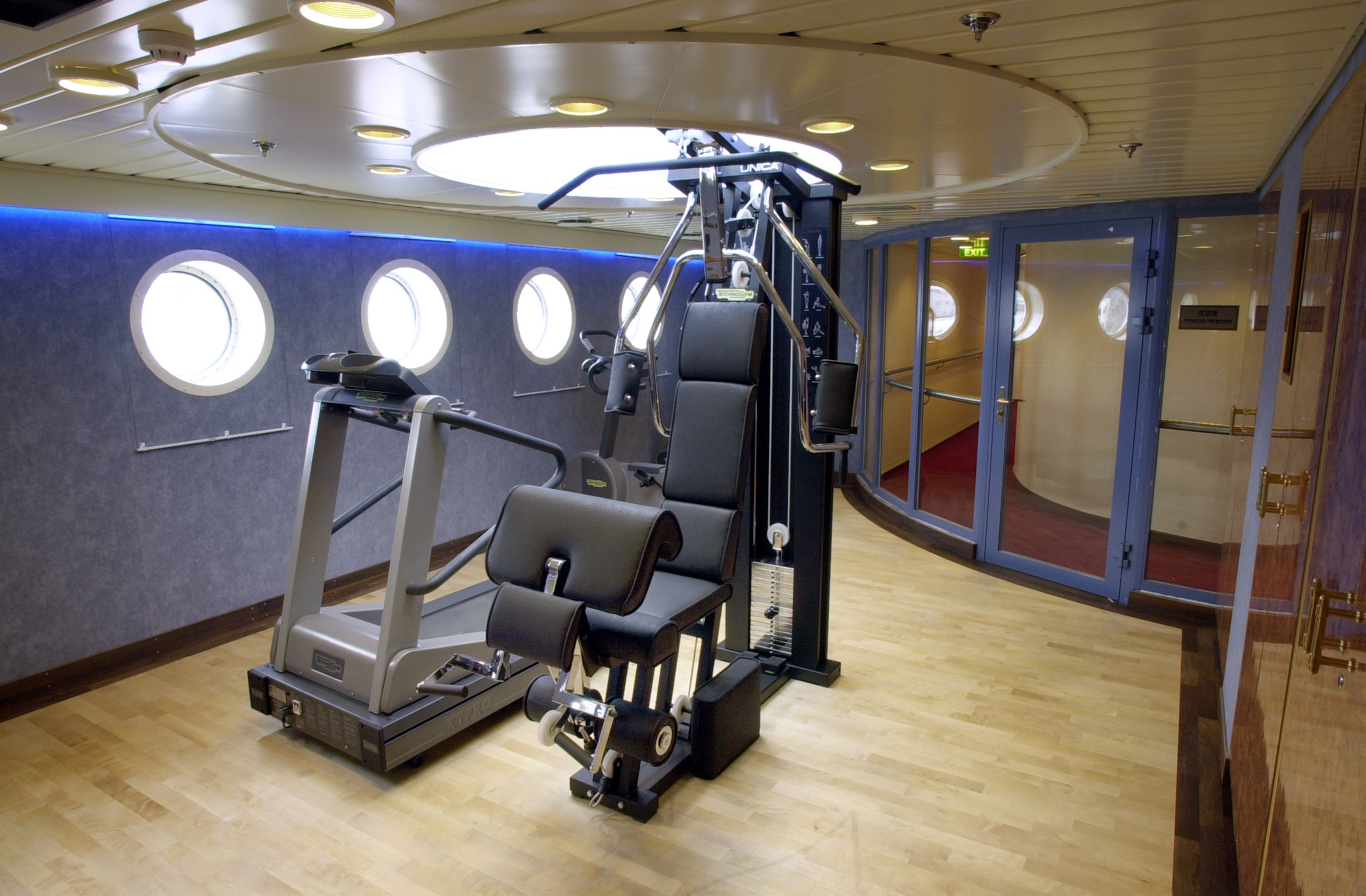 Hurtigruten Cruise Lines MS Finnmarken Interior Fitness Centre.jpg