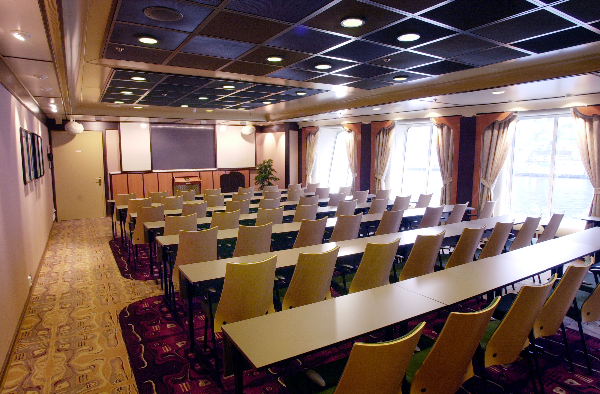 Hurtigruten Cruise Lines MS Finnmarken Interior Lecture Room.jpg