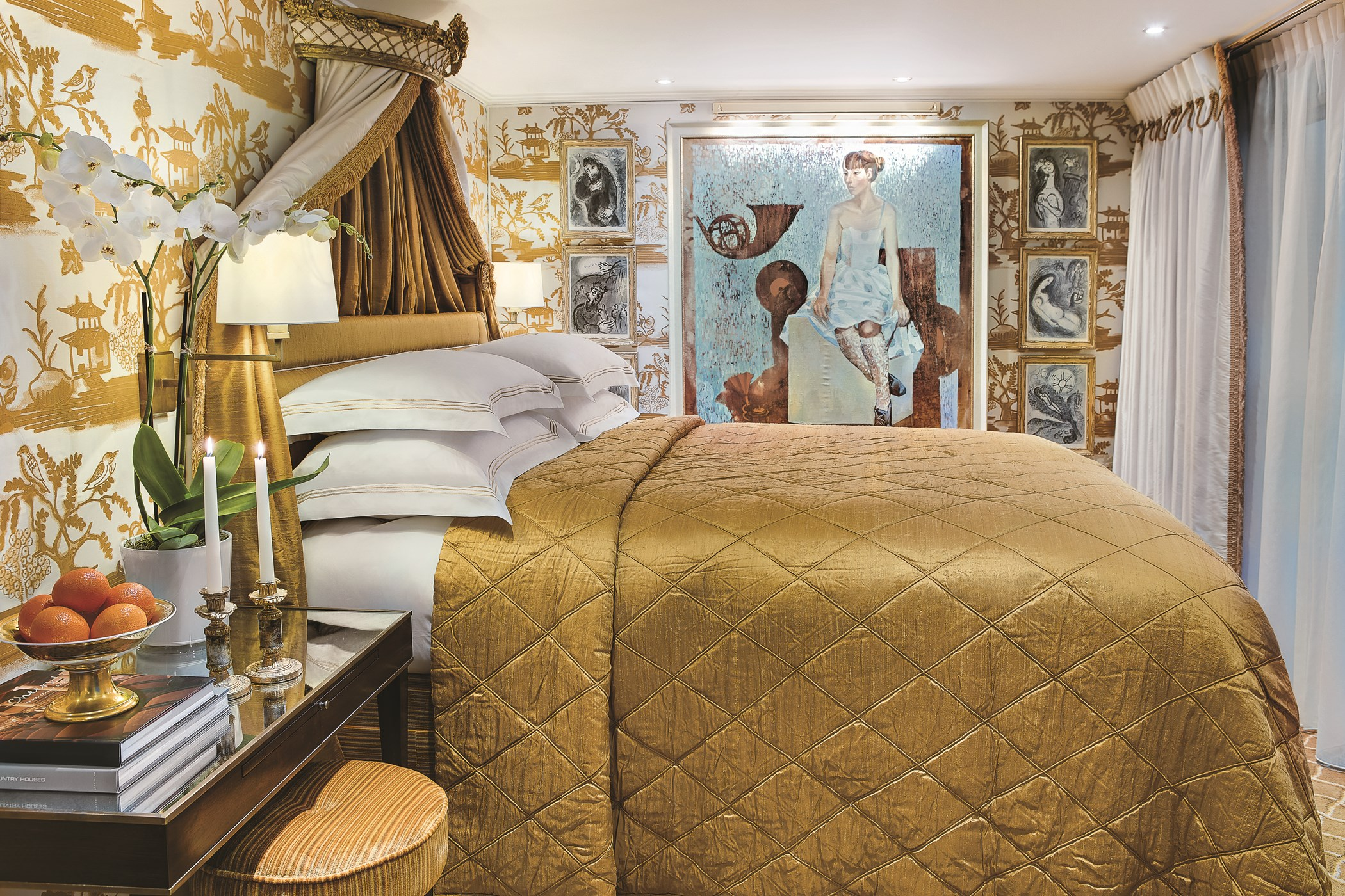 UNIWORLD Boutique River Cruises SS Catherine Accommodaion Suite 403 Bedroom.jpg