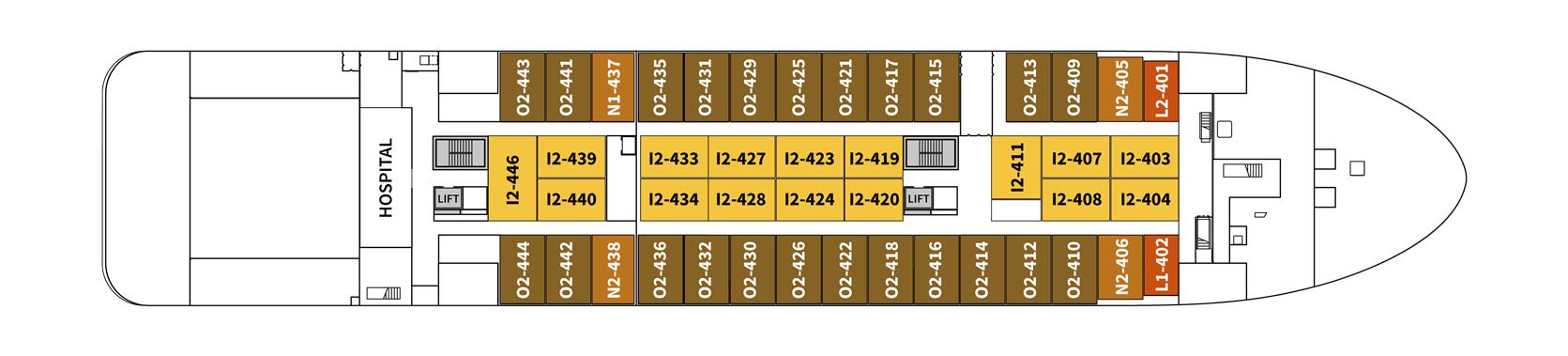 Hurtigruten MS Spitsbergen Deck Plans Deck 4.png