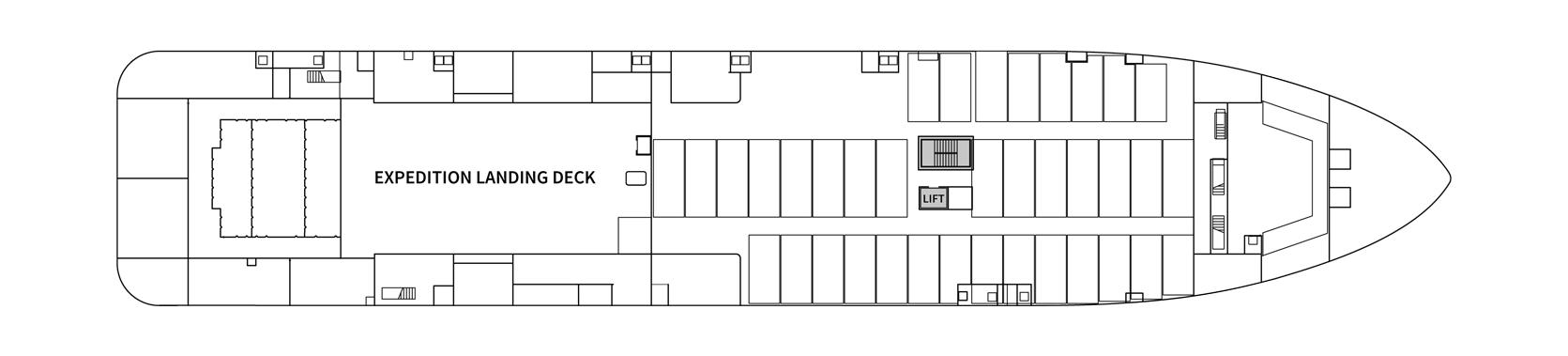 Hurtigruten MS Spitsbergen Deck Plans Deck 3.png