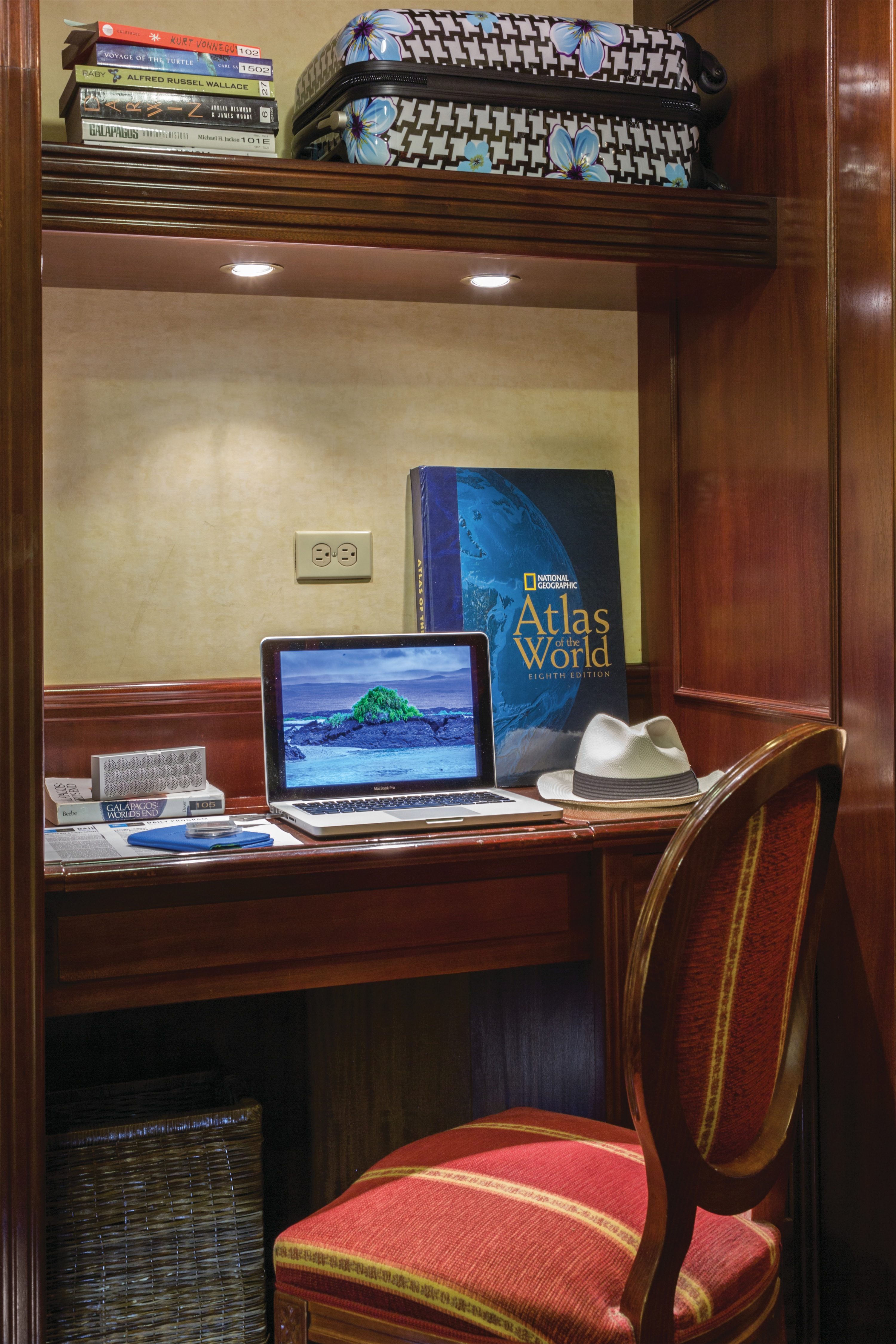 Lindblad Expeditions National Geographic Islander Accommodation Category 3 Desk.jpg