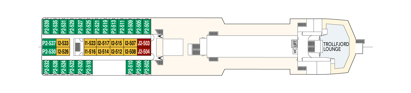 Hurtigruten MS Vesteralen Deck Plans Deck E.png