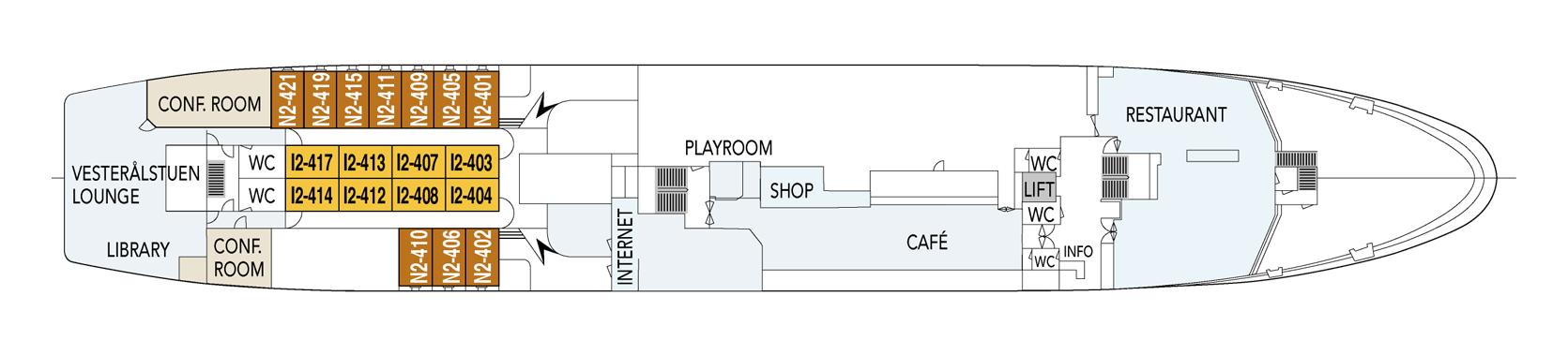 Hurtigruten MS Vesteralen Deck Plans Deck D.png