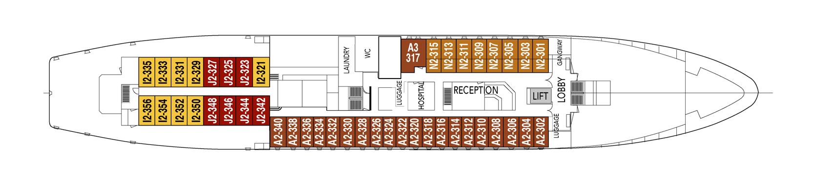 Hurtigruten MS Vesteralen Deck Plans Deck C.png